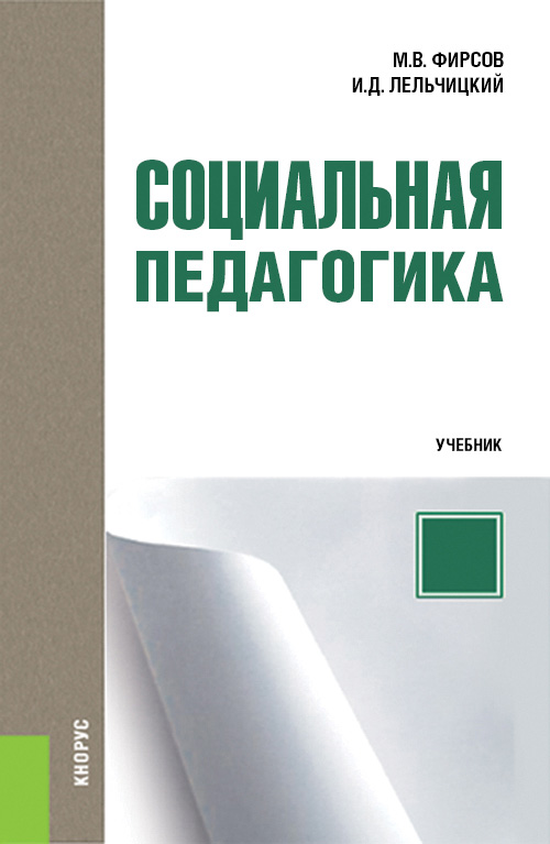 М. В. Фирсов Социальная педагогика организация работы с молодежью введение в специальность