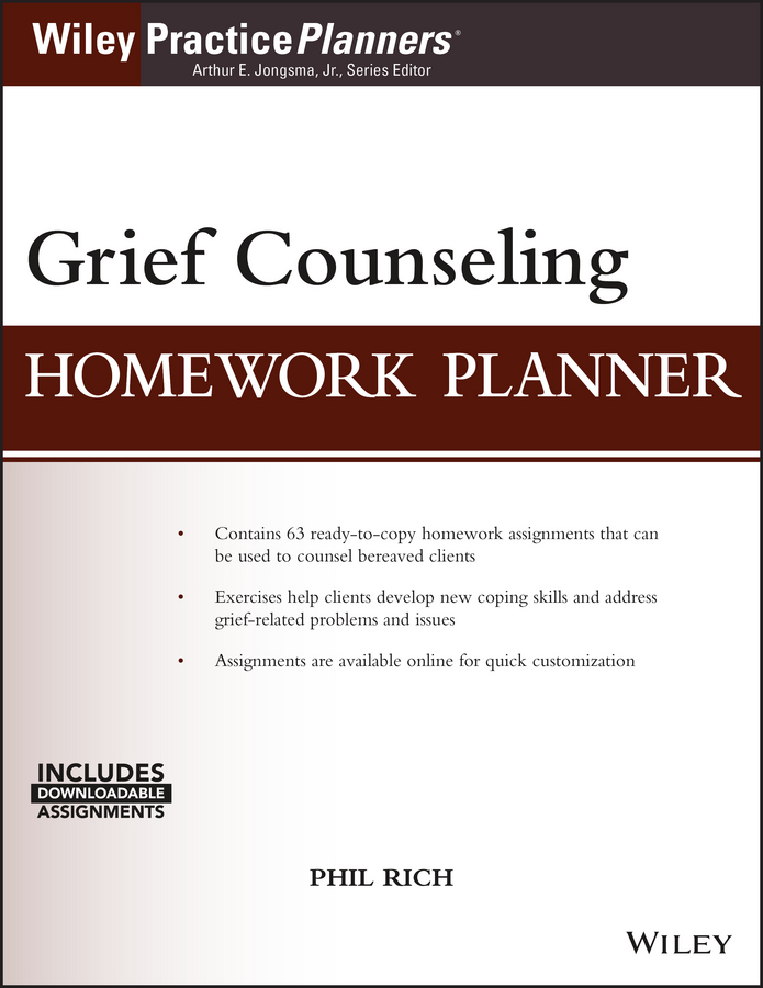 цена Phil Rich Grief Counseling Homework Planner