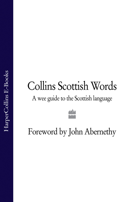 John Abernethy Collins Scottish Words: A wee guide to the Scottish language scots