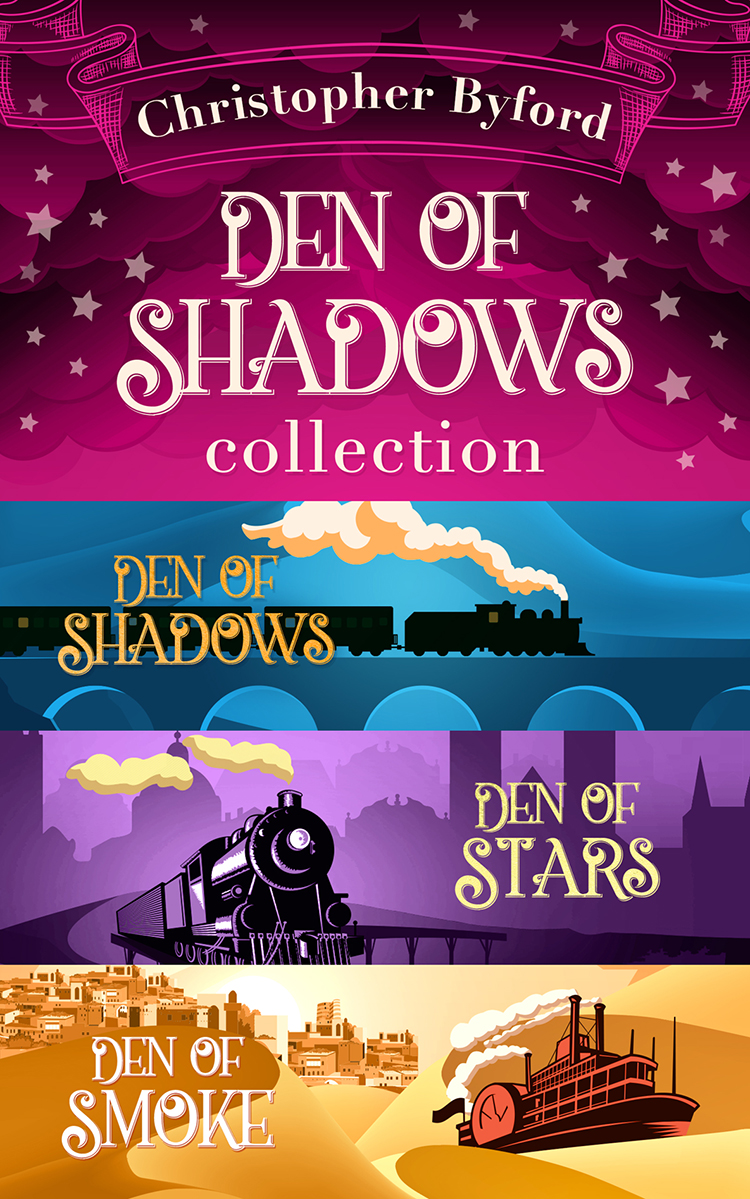 Christopher Byford Den of Shadows Collection: Lose yourself in the fantasy, mystery, and intrigue of this stand out trilogy paz draft of shadows