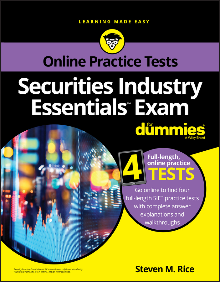 Фото - Steven Rice M. Securities Industry Essentials Exam For Dummies with Online Practice gre for dummies with online practice tests