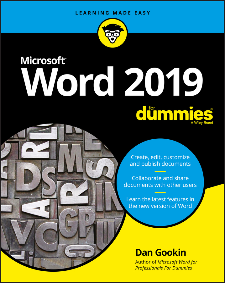 Dan Gookin Word 2019 For Dummies dan gookin pcs for dummies