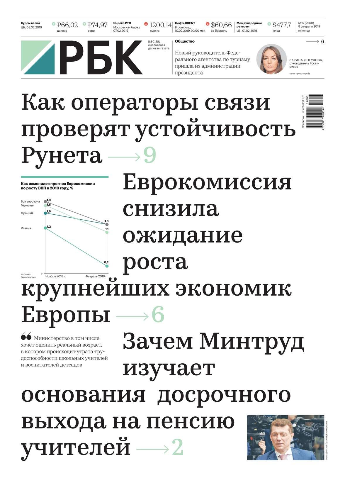 Ежедневная Деловая Газета Рбк 05-2019