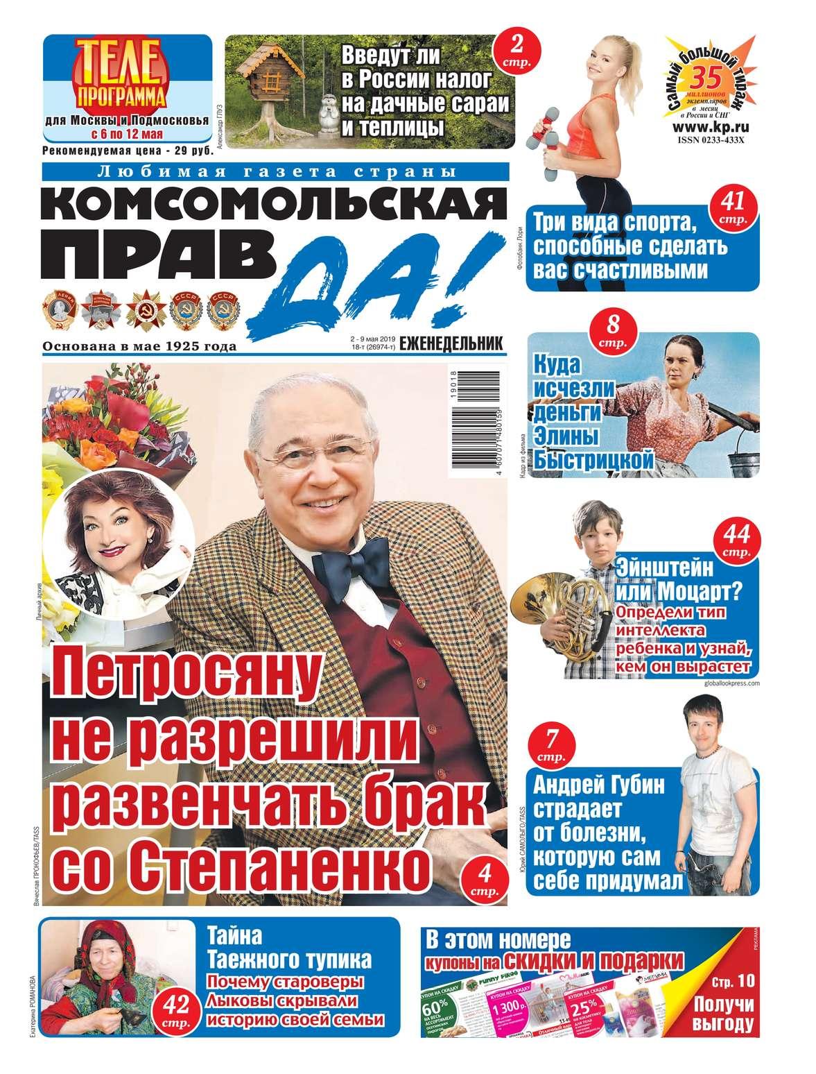 Комсомольская Правда (толстушка – Россия) 18т-2019