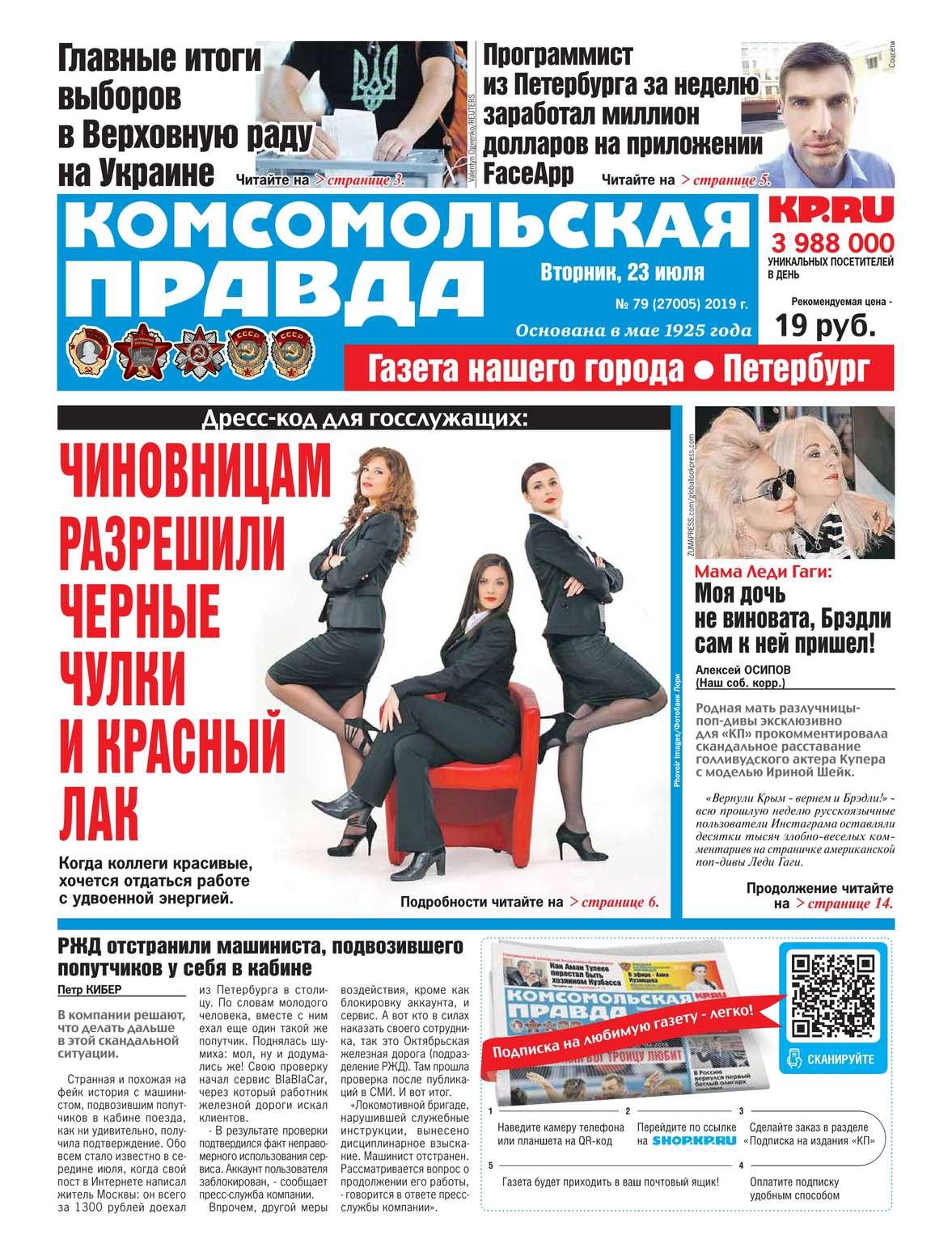 Редакция газеты Комсомольская Правда. Санкт-Петербург 79-2019
