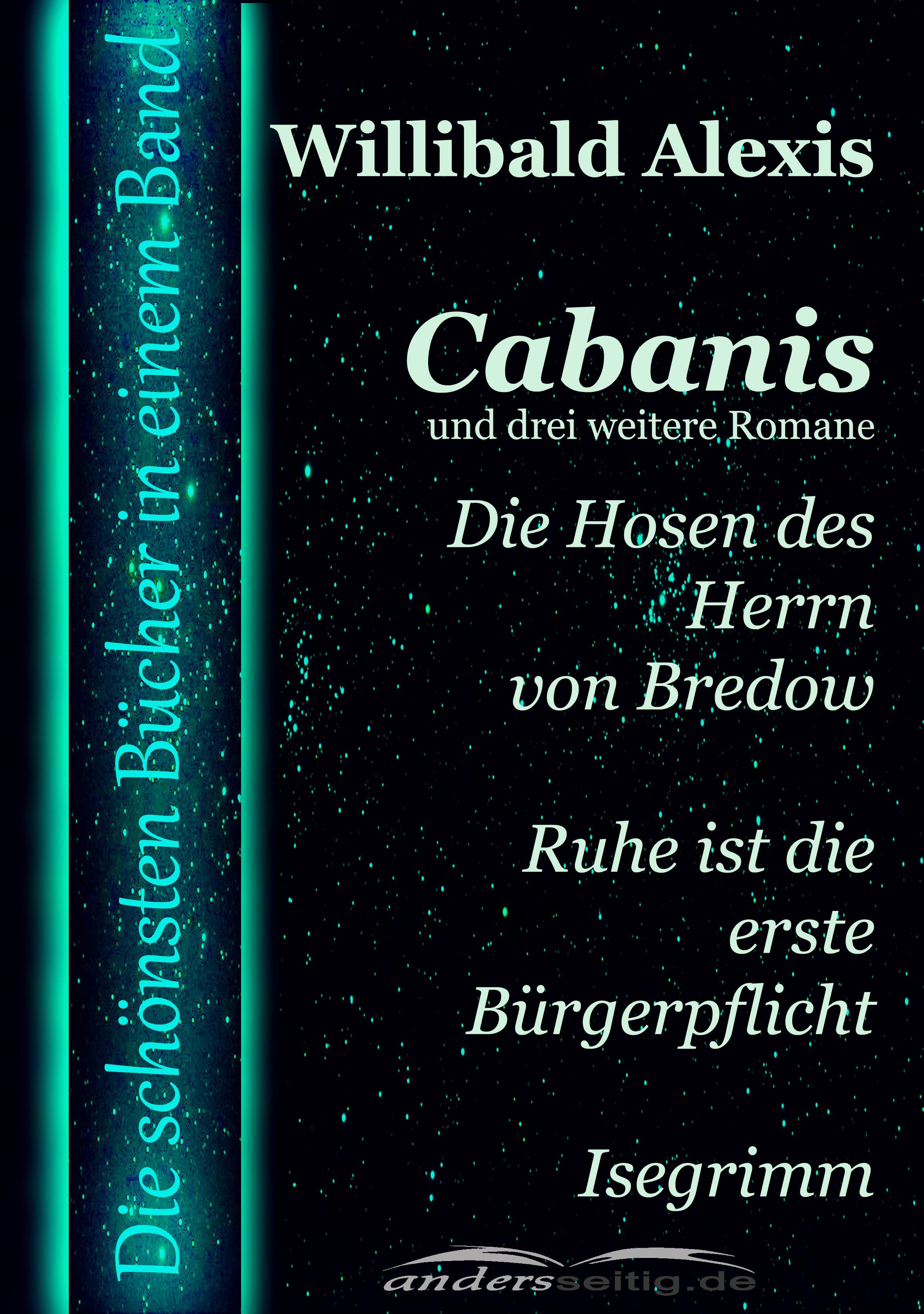 cabanis und drei weitere romane
