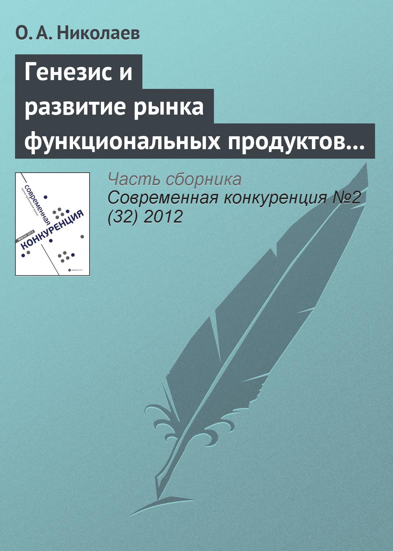 О. А. Николаев Генезис и развитие рынка функциональных продуктов питания motorcycle aluminum cooler radiator for yamaha fz6 fz6n fz6 n fz6s 2006 2007 2008 2009 2010