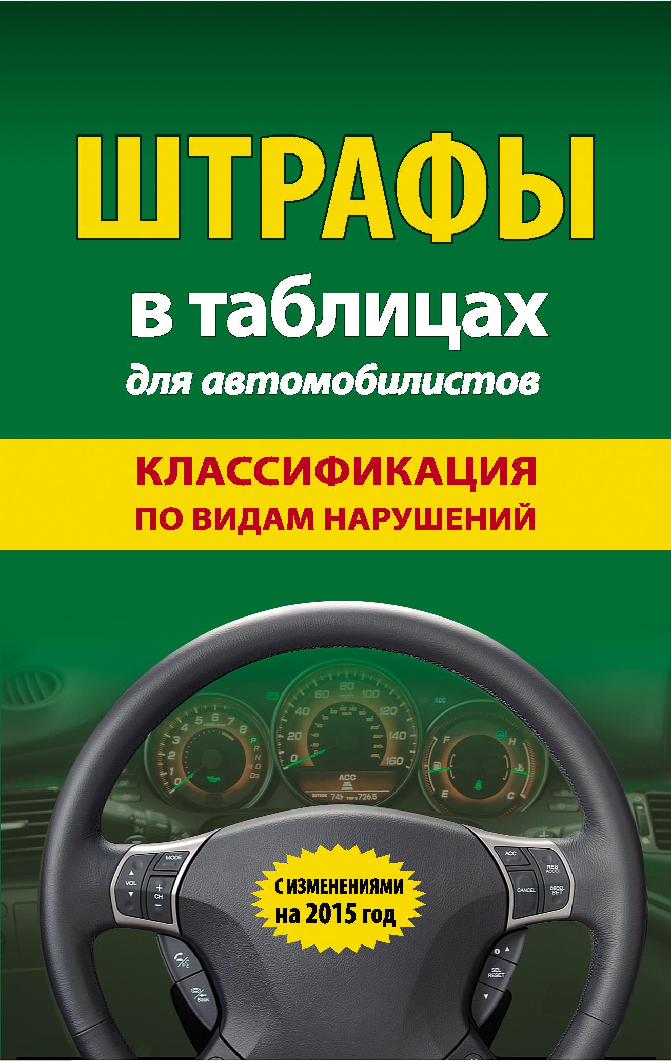 Отсутствует Штрафы в таблицах для автомобилистов. Классификация по видам нарушений. С изменениями на 2015 год