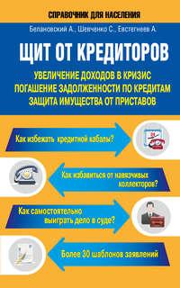 Обложка «Щит от кредиторов. Увеличение доходов в кризис, погашение задолженности по кредитам, защита имущества от приставов»