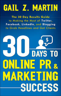 книга 30 Days to Online PR and Marketing Success