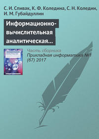 Обложка «Информационно-вычислительная аналитическая система теоретической оптимизации каталитических процессов»