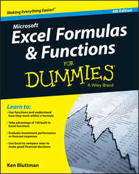 Обложка «Excel Formulas and Functions For Dummies»