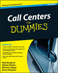 книга Call Centers For Dummies