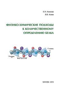 Обложка «Физико-химические подходы к количественному определению белка»