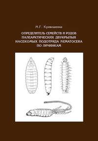 Обложка «Определитель семейств и родов палеарктических двукрылых насекомых подотряда Nematocera по личинкам»