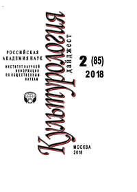 Обложка «Культурология. Дайджест №2 / 2018»