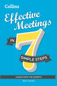 Обложка «Effective Meetings in 7 simple steps»