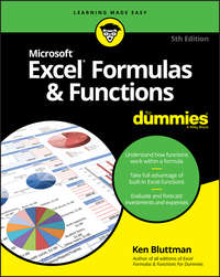 Обложка «Excel Formulas & Functions For Dummies»