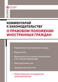 Обложка «Комментарий к законодательству о правовом положении иностранных граждан»