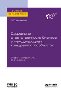 Обложка «Социальная ответственность бизнеса и международная конкурентоспособность 2-е изд., пер. и доп. Учебник и практикум для вузов»
