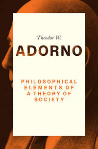 Обложка «Philosophical Elements of a Theory of Society»