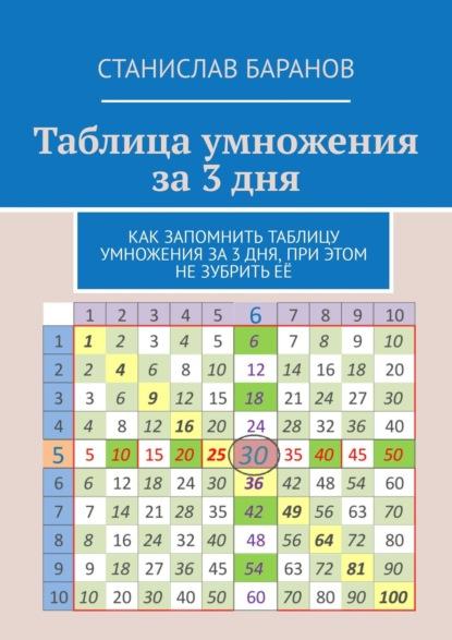 Станислав Баранов Таблица умножения за3дня. Как запомнить таблицу умножения за3 дня, при этом незубритьеё антошин м к сост таблица умножения для заучивания
