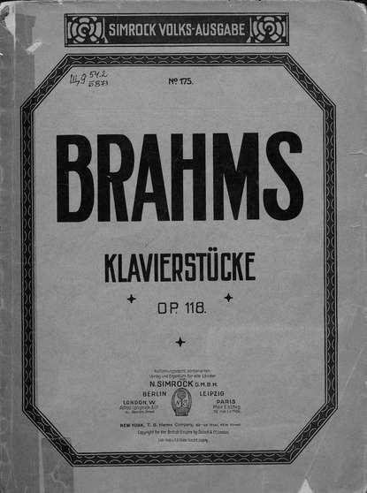 цена на Иоганнес Брамс Sechs Klavierstucke v. J. Brahms