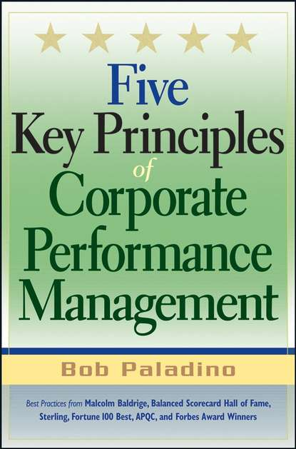 Bob Paladino Five Key Principles of Corporate Performance Management nitin pangarkar high performance companies successful strategies from the world s top achievers