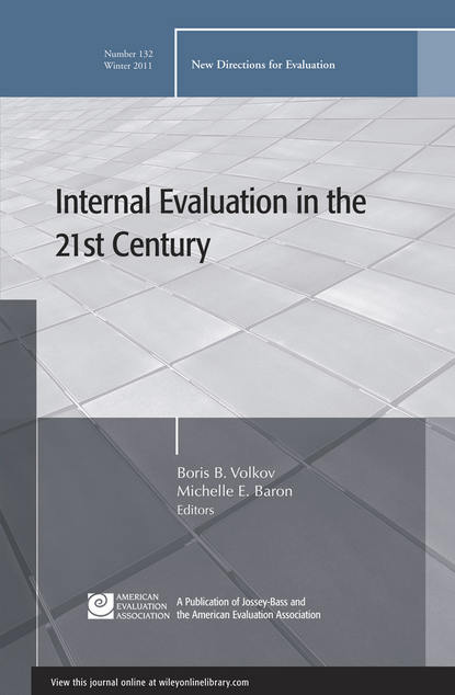 Baron Michelle E. Internal Evaluation in the 21st Century. New Directions for Evaluation, Number 132 formulation and evaluation of amlodipine besylate tablets