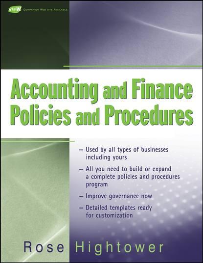 Группа авторов Accounting and Finance Policies and Procedures barry epstein j ifrs policies and procedures
