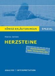 Herzsteine von Hanna Jansen. Königs Erläuterungen Spezial.