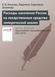 Расходы населения России на лекарственные средства: эмпирический анализ